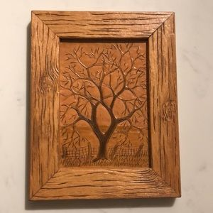 Other - Hand tooled leather wall art